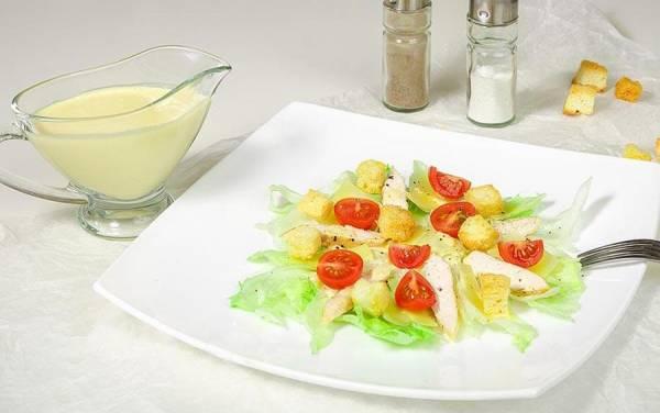 Sezar salati - resepti, bosqichlari + rasmlar bilan, tavsiyalar, sousi va suxariklari