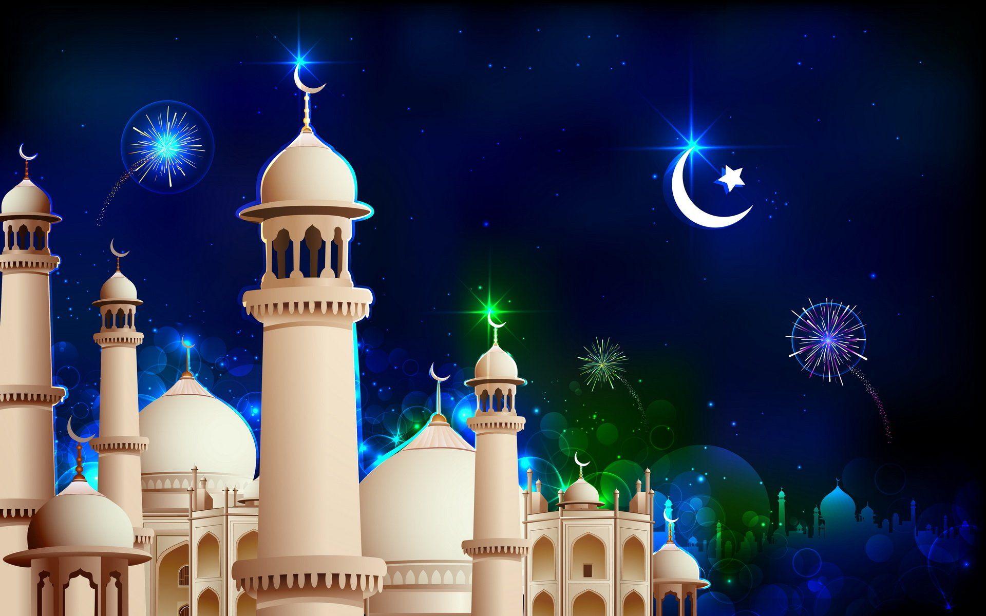 открытка на рамазан или место под